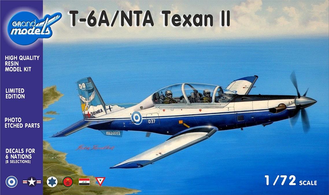 GRAND MODELS Beechcraft T-6A/NTA Texan II, 1/72 scale resin kit