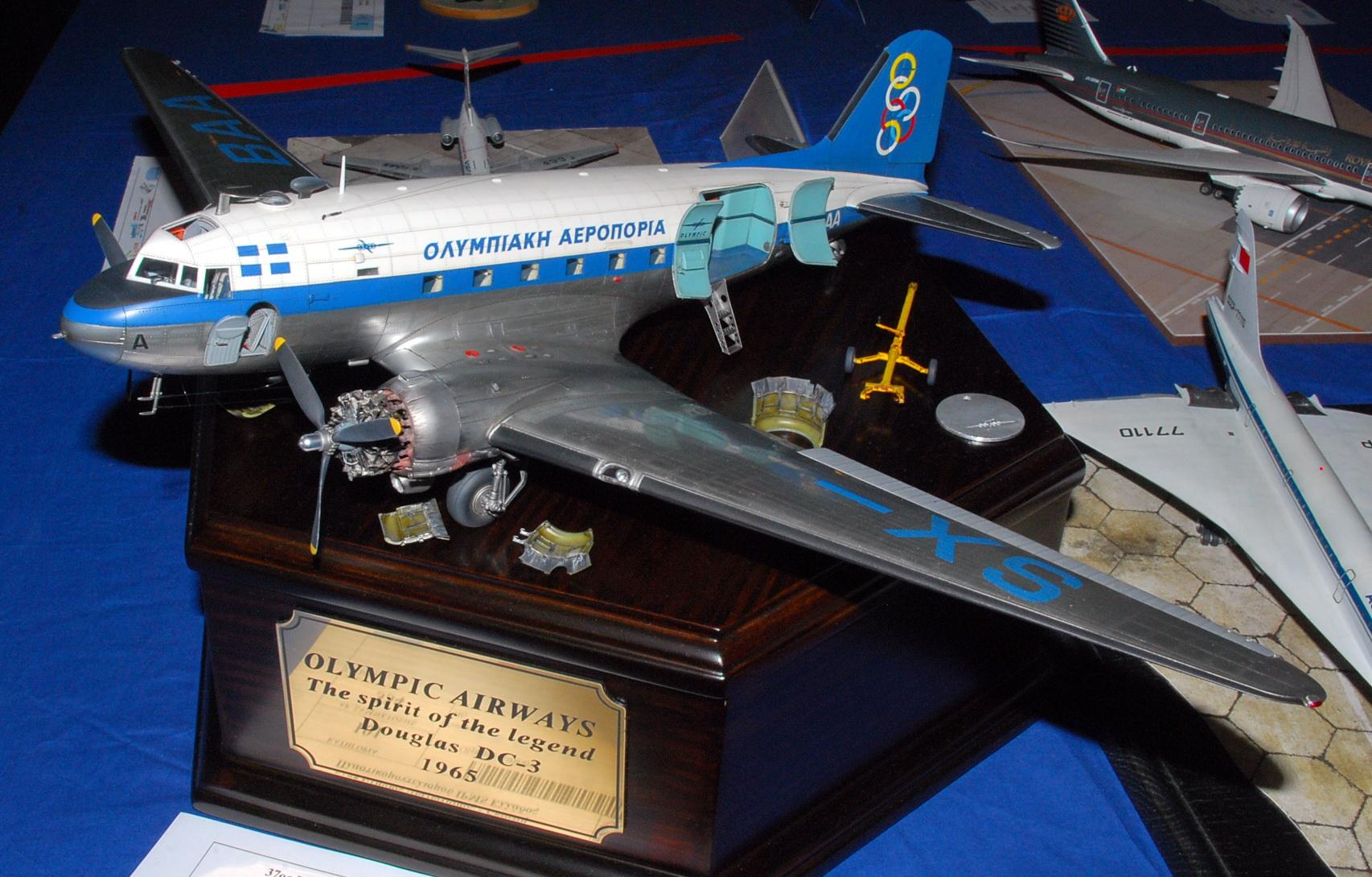 """Douglas DC-3 """"Olympic Airways 1965"""", Trumpeter 1/48 (IPMS Hellas 2018)"""