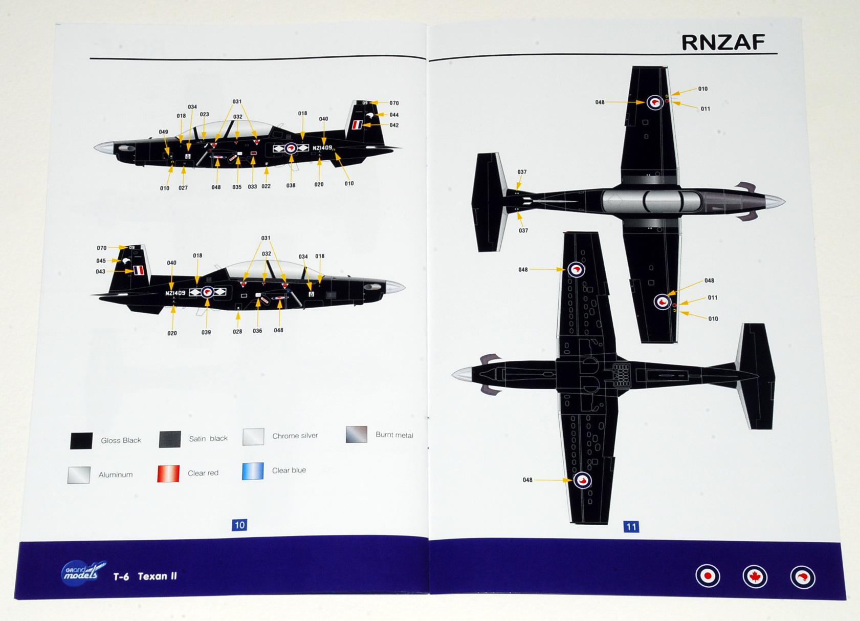 Beechcraft T Mk.1 T-6CTexan II (RAF version), Grand Models 1/72