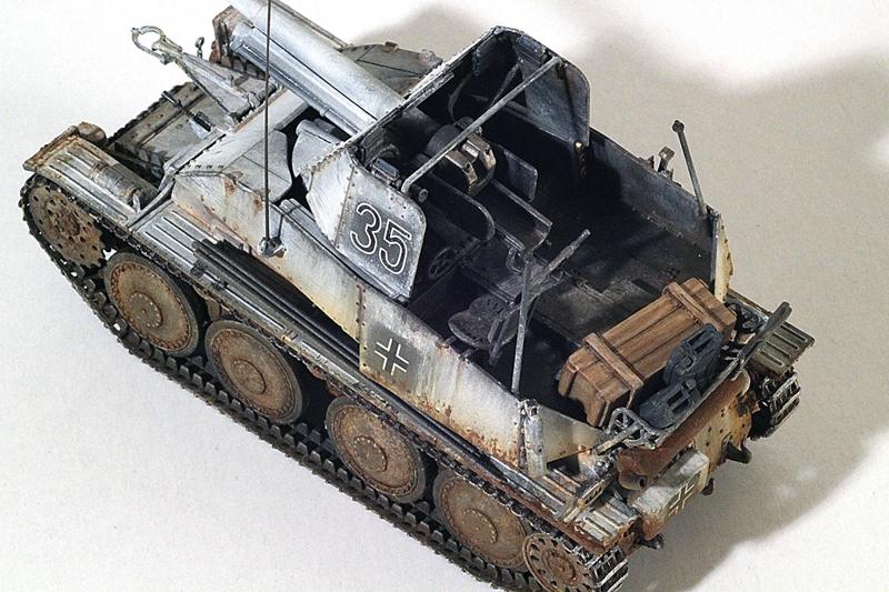 MARDER III, German tank destroyer, Tamiya 1/48