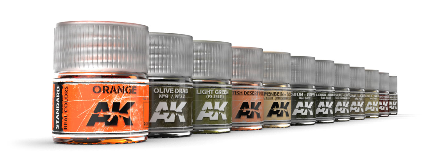 AK Interactive New Real Colors test