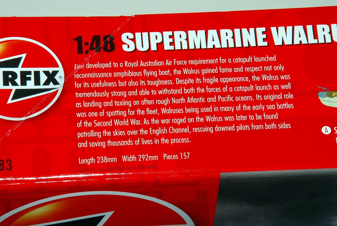 Supermarine Walrus, Airfix 1/48 (A09183)