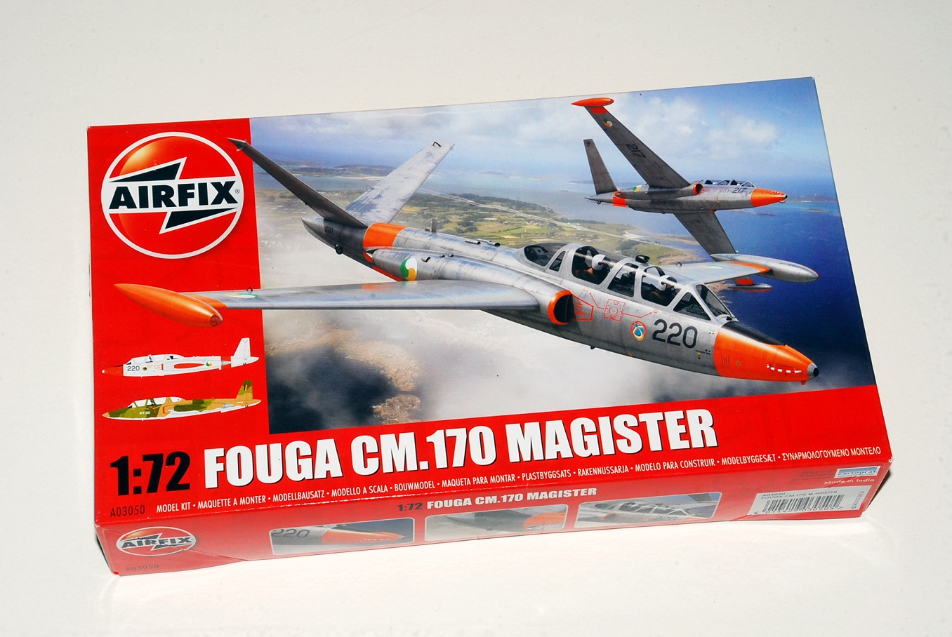 Fouga Magister, Airfix 1/72 (kit No. A03050)