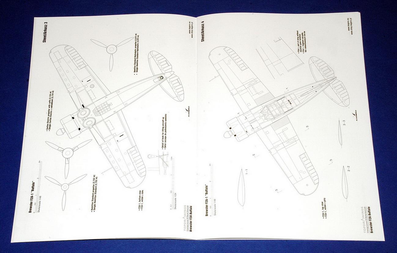 Brewster F2A Buffalo (F2A-1, F2A-2, F2A-3) Topdrawings No.51 (Kagero, 2018)