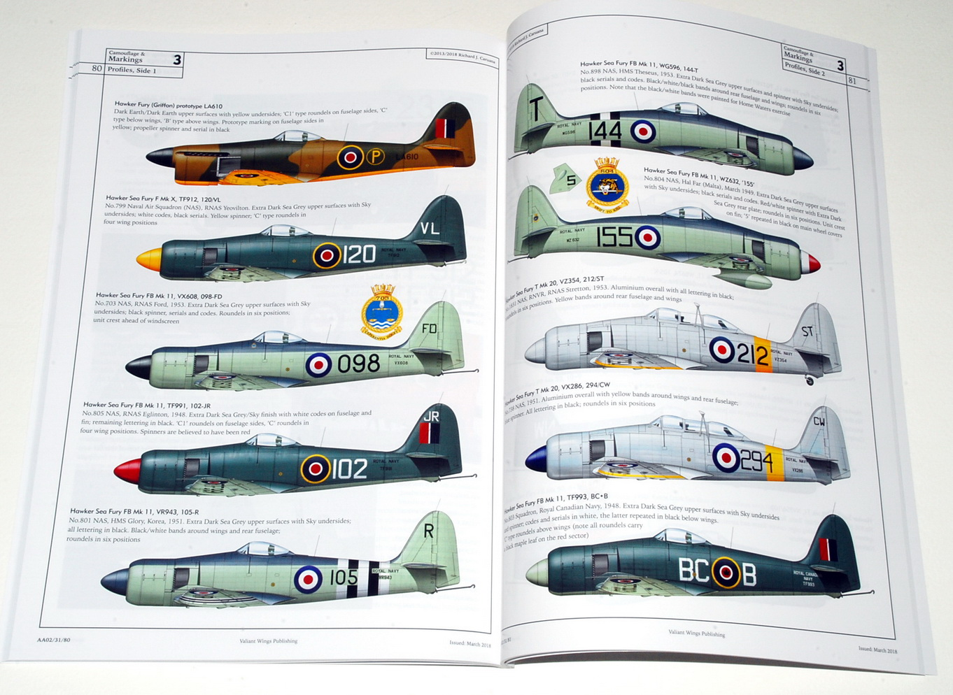 The Hawker Sea Fury, Airframe Album No.2 (Second Edition – Valiant Wings 2018)