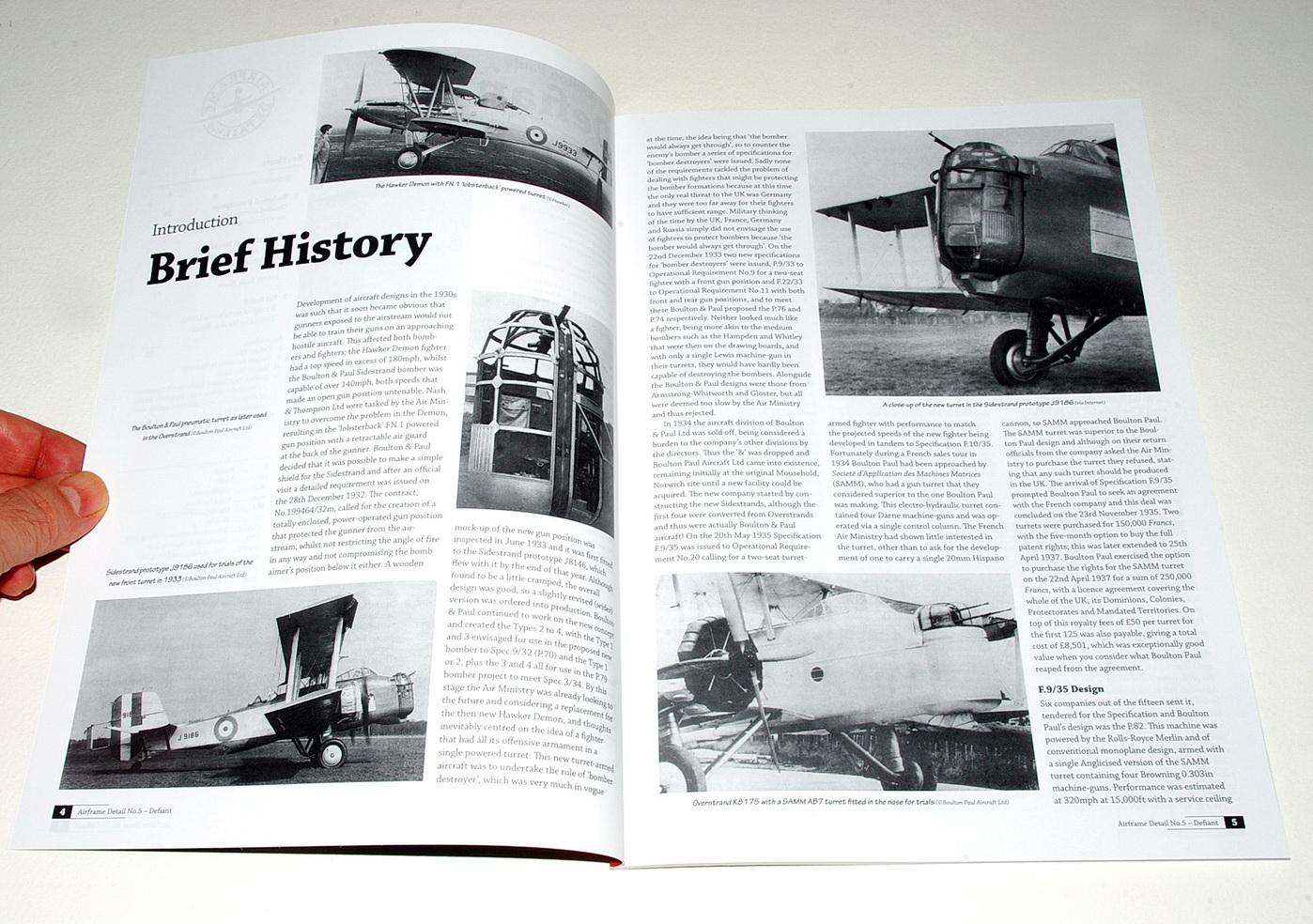 Βoulton Paul Defiant – Technical Guide by Richard A. Franks, Airframe Detail No.5 (Valiant Wings, 2018)