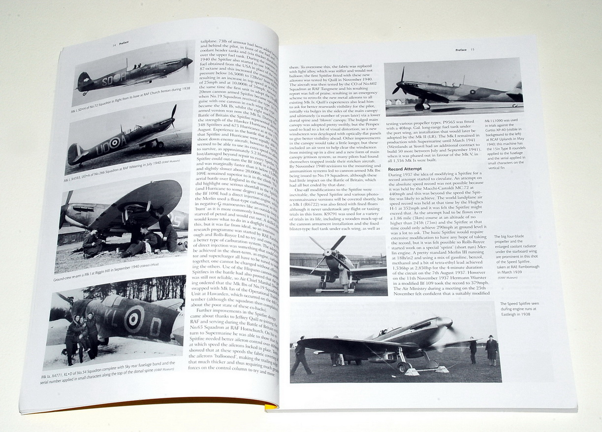 The Supermarine Spitfire Part 1 (Merlin-powered) - A Complete Guide To The Famous Fighter, by Richard A. Franks (Valiant Wings 2018)