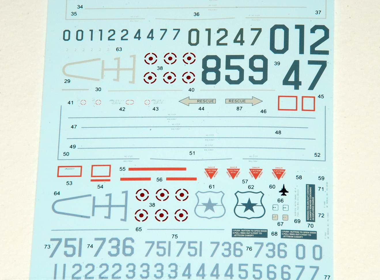 TG Decals, All Hellenic Air Force's F-16, 1/48 & 1/72 (48002, 72002)