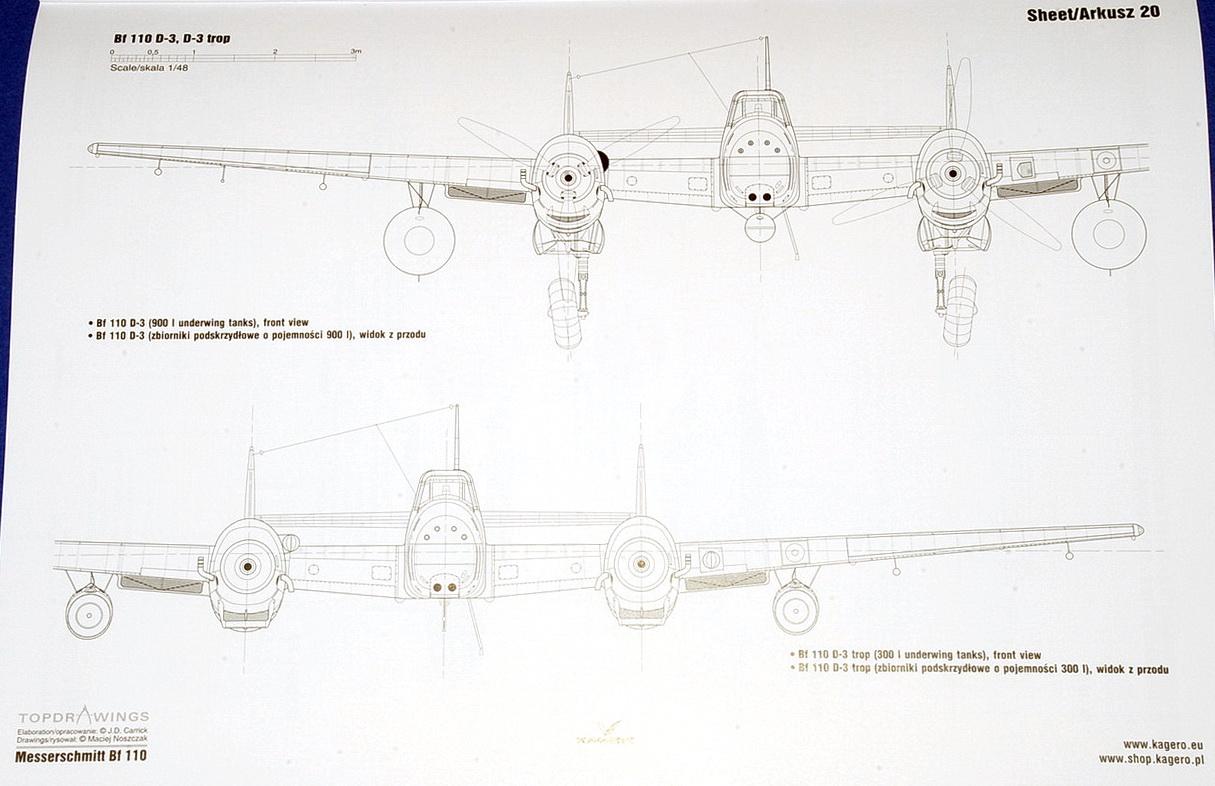 Messerschmitt Bf110 Vol.I, Topdrawings 57 by Maciej Noszczak (Kagero 2018)