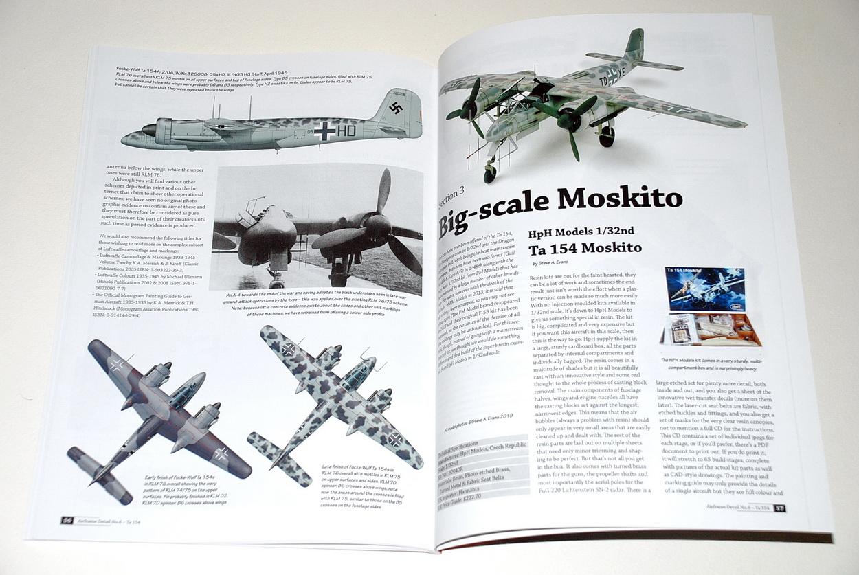 The Focke Wulf Ta154 Moskito, Airframe Detail No.6, by Richard A. Franks (Valiant Wings)