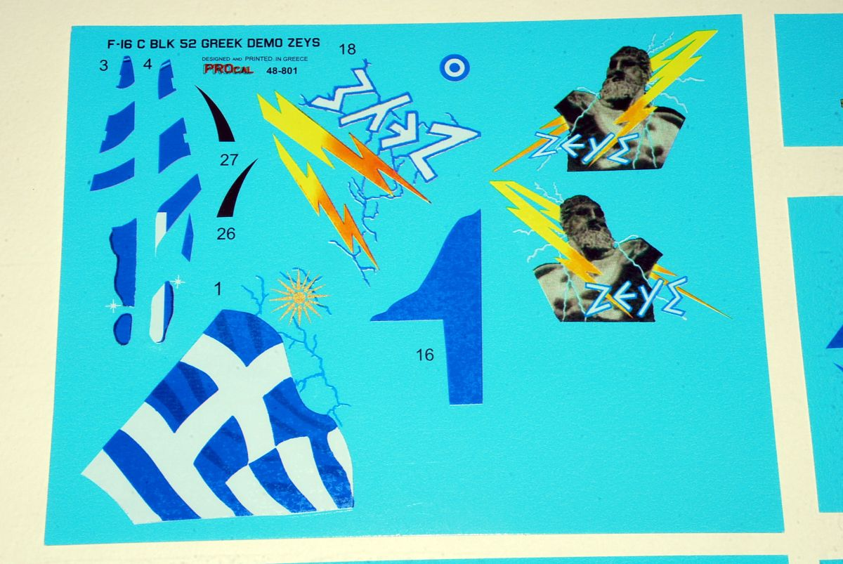 "PROCAL Decals by Orestis Petroutsopoulos (F-16C Block 52+ ""ZEUS"" Demo Team/HAF)"
