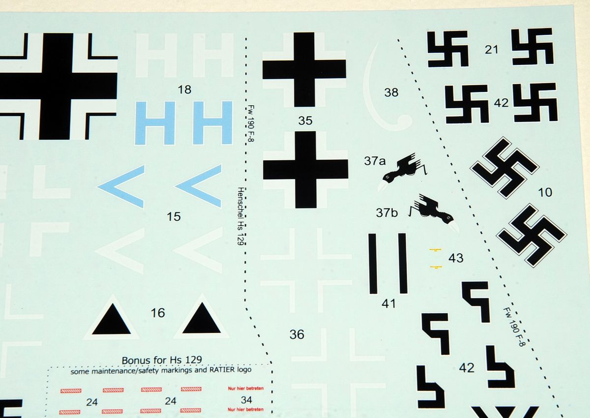 Luftwaffe Ground Attackers, Vol. 1, 1/48 Decal Sheet, EXITO Decals (ED48004)
