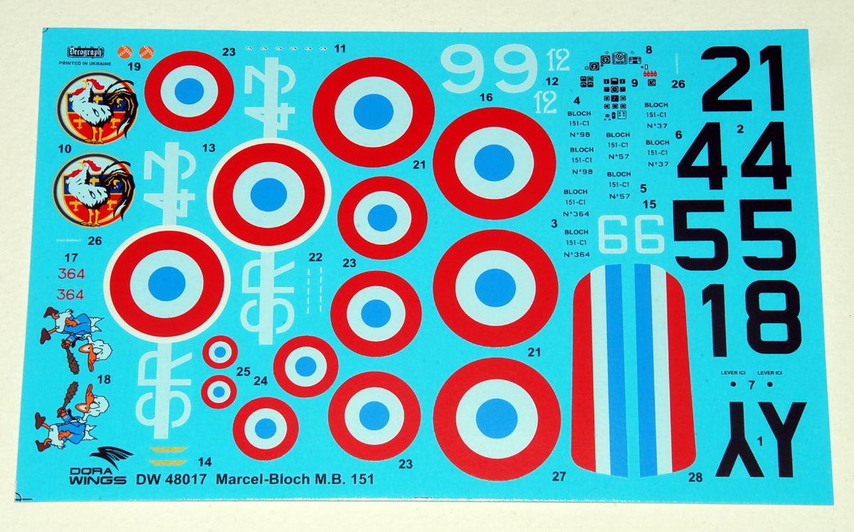 Marcel-Bloch MB.151C.1, DORA WINGS 1/48 (Kit No.DW48017)