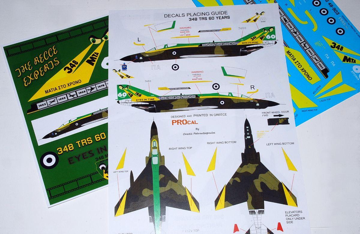 PROCAL Decals F-4E/RF-4E Special anniversary Phantoms, HAF (1/72, 1/48 & 1/32)