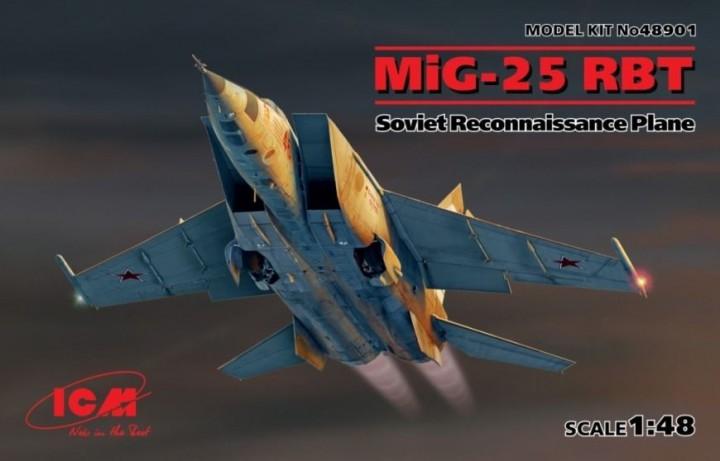 COLD WAR STUDIO's MiG-25RBT nose correction set for ICM new 1/48 kit