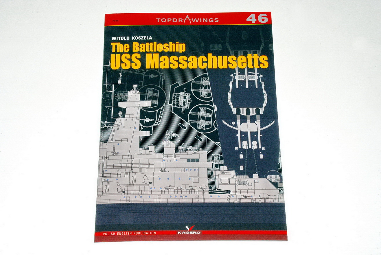 "Kagero Publishing continue to release many interesting books in their highly successful and popular ""TopDrawings"" series. These books provide scale drawings, as well as large colour plates/profiles, and are great looking reference books for modelers at an affordable price. Number 46 in this series is about the famous american battleship USS Massachusetts of WW2. This 32 page, A4 size, soft cover book provides pages of excellent 1/200 & 1/400 scale plans, plus many details of the ship not to scale, by Witold"