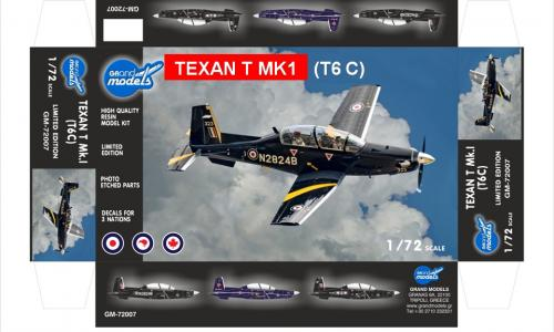 GRAND MODELS TEXAN T Mk1 (T-6) 1/72 New!