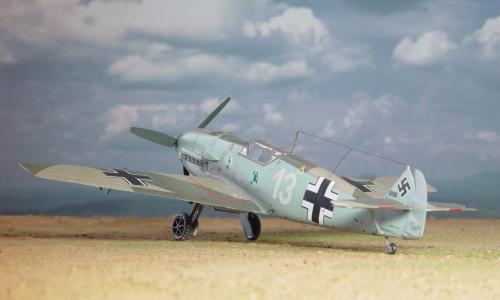 """Messerschmitt Bf109E-3 """"Heinz Bar"""", Hasegawa 1/72"""