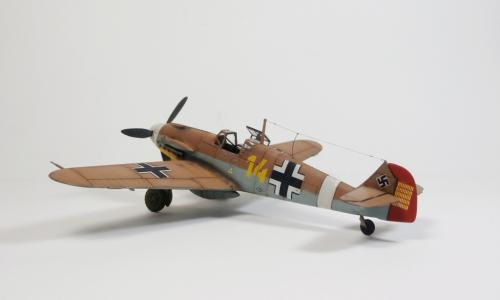 "Μesserschmitt Bf109F-2/4 ""Yellow 14 – Marseille"", Italeri 1/72"