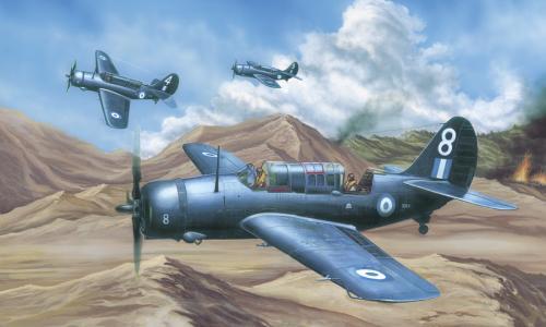 Curtiss SB2C-4 Helldiver, Academy 1/72 (μετατροπή σε ελληνικό SB2C-5)