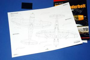 Republic P-47D Thunderbolt (D-25, D-27, D-30, D-40 models – Bubble canopy) Topdrawings No.50 (Kagero, 2018)