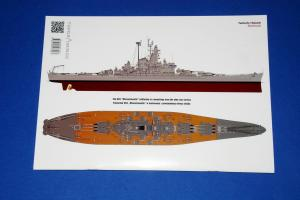 Τhe Battleship USS Massachusetts, Topdrawings No.46 (Kagero)
