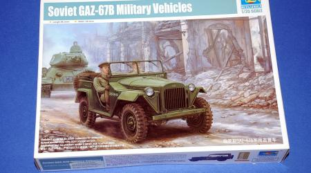 "GAZ-67B Soviet ""Jeep"" (1944), Trumpeter 1/35 (kit No.02346)"