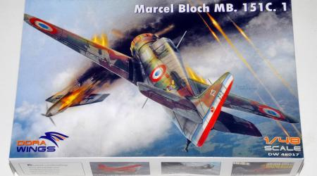 Marcel-Bloch MB.151C.1, DORA WINGS 1/48 (Kit No.DW48017)