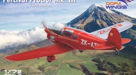 Percival Proctor Mk.III (Civil), Dora Wings 1/72 (κωδικός DW72017)