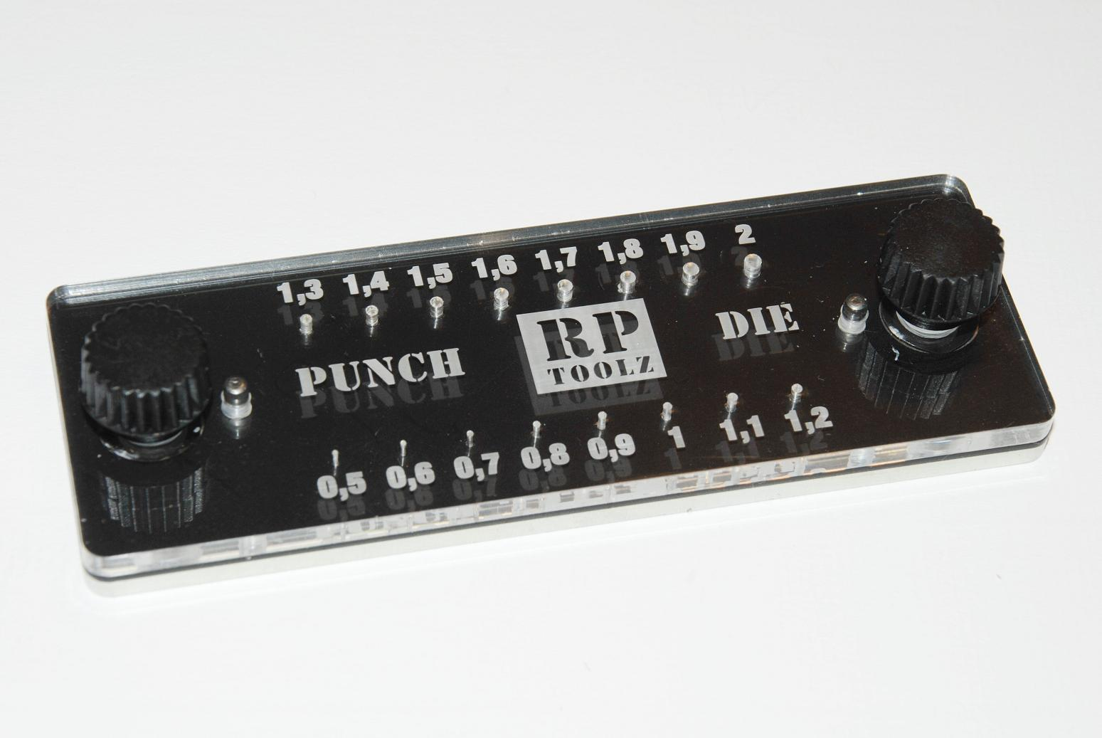 RP TOOLZ, Punch & Die set (0,5-2mm), Photo-Etched Bender Tool, Roller Tool